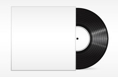 Vintage vinyl record in sleeve over white. . Eps 10 vector illustration Royalty Free Stock Image