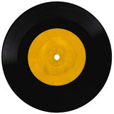 Vintage vinyl record on white Royalty Free Stock Photo