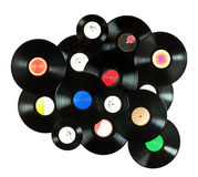 Vintage vinyl records Royalty Free Stock Photos