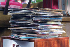 Vintage vinyl records Royalty Free Stock Photography