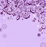 Vintage violet card Stock Photo