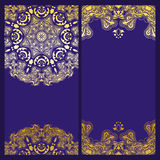 Vintage violet invitation Royalty Free Stock Images