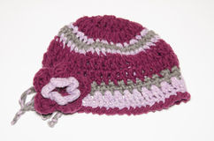 Vintage Violet  knit Hat Cap Royalty Free Stock Photos