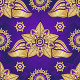 Vintage violet seamless pattern Stock Image