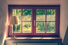 Vintage violet window Royalty Free Stock Images
