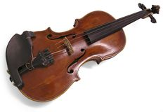 Vintage Violin. A vintage violin, precious for the owner, piece of art Royalty Free Stock Photo