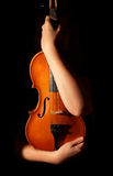 Vintage violin. Isolated on black Royalty Free Stock Photography