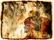 Vintage violin background Royalty Free Stock Photography