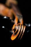 Vintage violin on black background Royalty Free Stock Photos