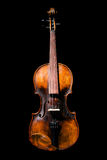 Vintage violin on black background Royalty Free Stock Images