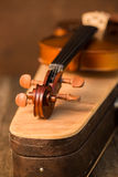 Vintage violin and case Royalty Free Stock Photo