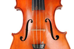 Vintage Violin - Close Up View Royalty Free Stock Photos