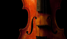 Vintage violin detail Royalty Free Stock Photo