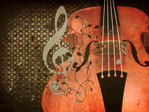 Vintage violin music background Stock Photography
