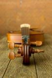 Vintage violin on old steel background Stock Images