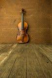 Vintage violin on old steel background Stock Image