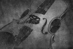 Vintage violin orchestra musical instruments Royalty Free Stock Image