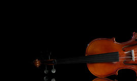 Vintage violin orchestra musical instruments Stock Photo