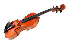 Vintage Violin Over White Background Royalty Free Stock Image