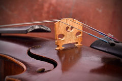 Vintage violin with string Stock Photo