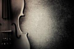 Vintage violine. On concrete background royalty free stock photos