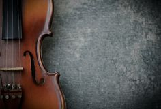 Vintage violine. On concrete background royalty free stock photography