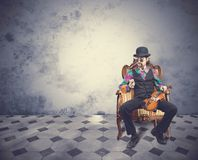 Vintage violinist Royalty Free Stock Photography