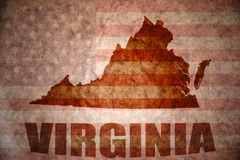 Vintage virginia map royalty free stock images