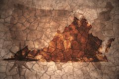 vintage Virginia state map royalty free stock photo