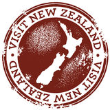 Vintage Visit New Zealand Stamp Royalty Free Stock Image