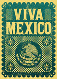 Vintage Viva Mexico - mexican holiday Stock Photo