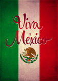 Vintage viva mexico poster  - card template. Vintage Mexican poster - card template - copy space Stock Photos