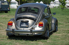 Vintage Volkswagen  back view. Royalty Free Stock Images