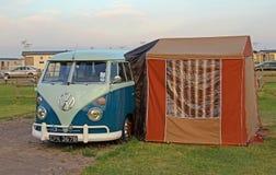 Vintage volkswagon splitscreen camper van Stock Photos