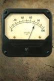 Vintage Voltmeter on Metal Background Stock Photos