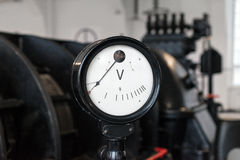 Vintage voltmeter. Royalty Free Stock Photos