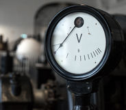 Vintage voltmeter. Stock Image