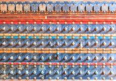 Vintage volume of old amplifier Stock Images