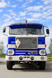 Vintage Volvo F88 Blue and White Tanker Show Truck Stock Image