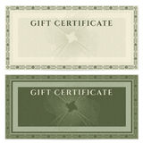 Vintage voucher (coupon) template with border Royalty Free Stock Photo