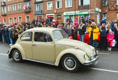 Vintage VW Beetle during a street parade Stock Photos
