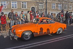 Vintage VW Karmann Ghia car during parade Stock Photography