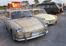Vintage VW Type 3 owners gathering at volkswagen club meeting. Bangkok, Thailand - February 9, 2019: Vintage VW Type 3 owners gathering at volkswagen club stock images
