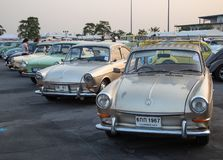 Vintage VW Type 3 owners gathering at volkswagen club meeting. Bangkok, Thailand - February 9, 2019: Vintage VW Type 3 owners gathering at volkswagen club royalty free stock image