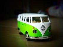 Vintage VW Van Diecast Toys Car 1:32. Vintage volkswagen T1 transporter toys car stock image