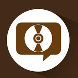 Vintage vynil disk symbol design Stock Photography