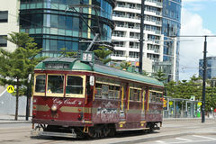 Vintage W class tram in City Circle service Stock Photo