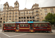 Vintage W class tram in City Circle service Stock Photography