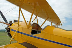 Vintage 1930 WACO Taperwing Biplane Stock Photography