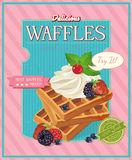 Vintage waffles poster design Stock Photo